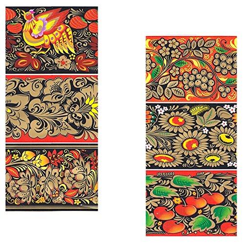 rukauf 10 Confezioni di Fascette Decorative di Pasqua Hochloma, 7 Diversi Motivi per Confezione Hochloma