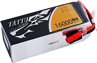 Tattu 16000mAh 6S 15C LiPo Battery Pack with AS150+XT150 Plug for Multirotor Like DJI S800 S1000 OnyxStar FOX-C8-HD Gryphon X8 and Other Multicopter
