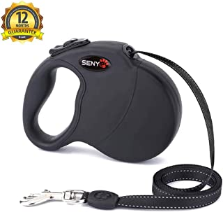 SENYEPETS Heavy Duty Retractable Dog Leash by Senye - Great for Small,Medium&Large Dogs up o 110lbs-Strong Nylon Ribbon Extends 16ft; 360° Tangle-Free;Durable Big Pet Leash