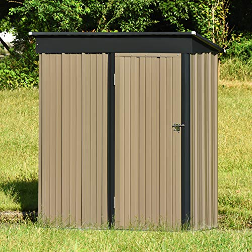 5' x 3' Metal Outdoor Storage Shed, Steel Utility...