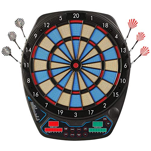 OLI Electronic Dart Board with 12 Soft Tip Darts, LED Scoring Display Dartboard Set for Adults, 100 Spare Tips & Power Adapter Include