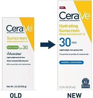 CeraVe Sunscreen Face SPF 30, 2.5 oz, Old Formula (Discontinued)