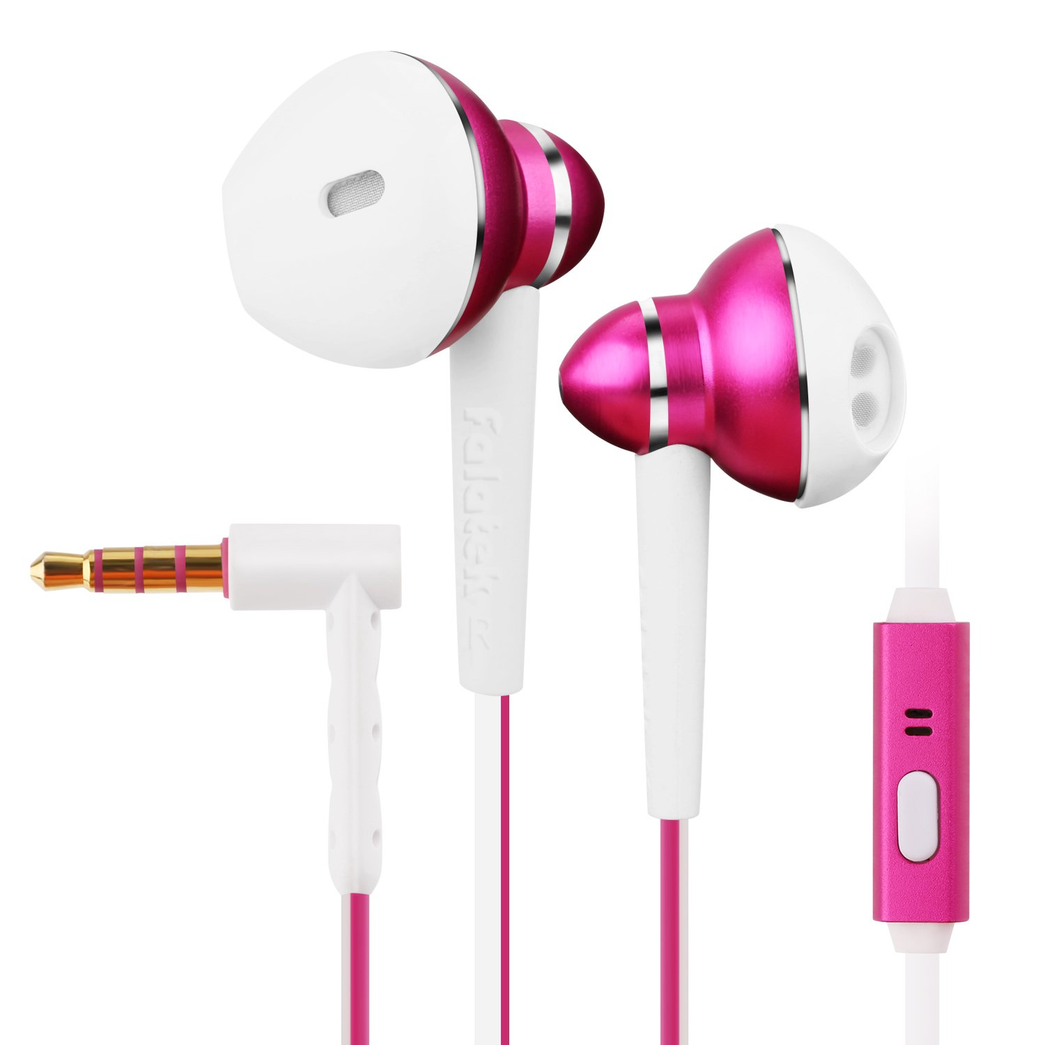 In-Ear Earphones, Falatek Hours Wired Earbuds with Microphone/Powerful Bass Driven Sound/Tangle Free Design / 3.5mm Headphone Jack/Sweat-proof/Powerful Bass