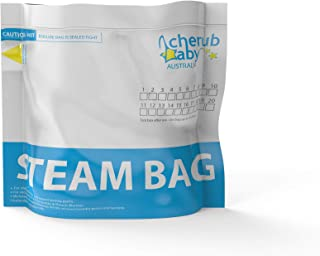 Natristeam Baby Microwave Steam Bags (6 pack, 20 uses per bag)