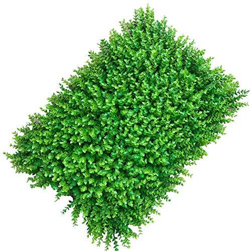 HaroldDol Seto artificial de 60 x 40 cm, 12 unidades, protección visual para terraza, decoración de plantas, color verde claro