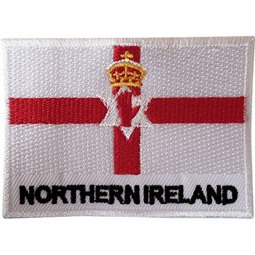 Bandera Irlanda Norte parche coser ropa chaqueta Ulster