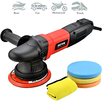 "ZOTA Buffer Polisher, 15mm Long-Throw Orbital Polisher, 6"" /850w Dual Action Polisher with Variable Speed/Soft Start/3 Professional Pads."