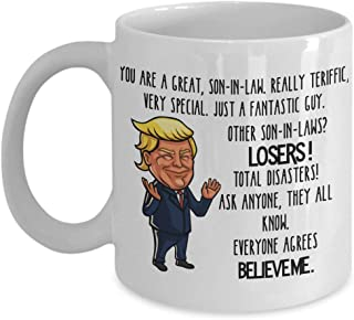 Trump Mug for Son In Law Gift for Son-In-Law Mug for Men Wedding Gift for Son In Law Mug for Him Son to Be Gift for In Laws Mug InLaw Gift