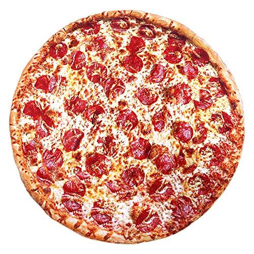 Burrito Decke, 180CM Runde Neuheits Pizza Kuscheldecke, Mikrofaser Flanell Food Creation Tagesdecke, Zweiseitige Burrito Blanket, Sofadecke, Reisedecke (71 inch)