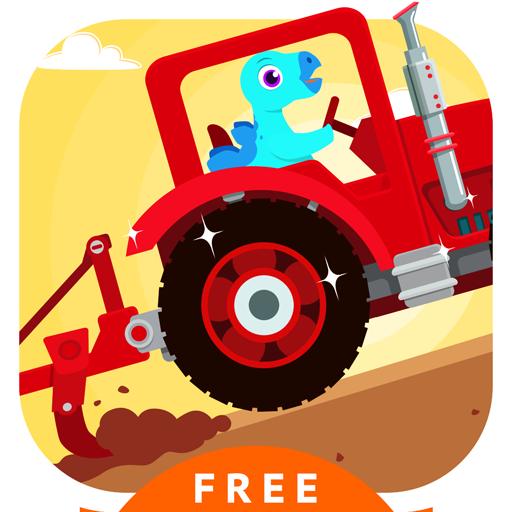 Dinosaur Farm - Tractor Games for kids