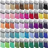 Duufin 250 Piezas Borlas de Ante Mini Borlas de Colores Colgantes de Borlas de Cuero DIY Accesorios, 50 Colores (gorra de plata)