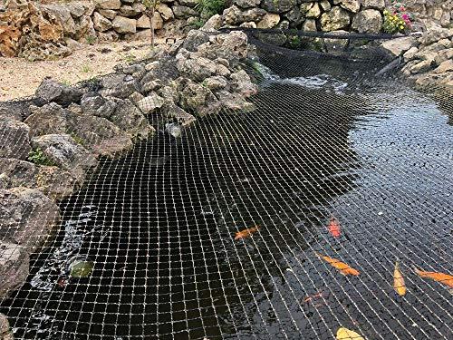 Aquaristikwelt24 Teichabdecknetz 3x4,2m Teichnetz Teichschutz Fischreiher Laubschutz Abdecknetz Teich Teichabdeckung Laubnetz Vogelnetz Fangnetz Vogelschutz