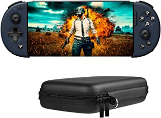 Bounabay Wireless Telescopic Bluetooth Controller Gamepad for Android System with Portable Travel Carry Case,Black