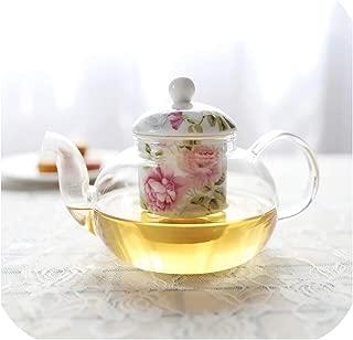 780ml European Pastoral Style Ceramic Bone China Porcelain Heat resistant glass Teapot British Afternoon Black Flower Tea Teapot,C
