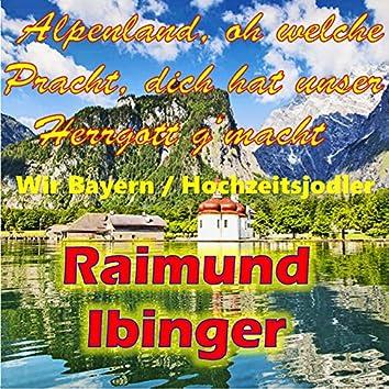 Alpenland, oh welche Pracht, dich hat unser Herrgott g'macht / Wir Bayern / Hochzeitsjodler