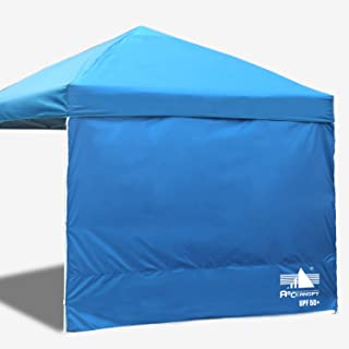 ABCCANOPY 15+Colors 10' Sun Wall for 10'x 10' Straight Leg pop up Canopy, 10' Sidewall kit (1 Panel) with Truss Straps, (Sunshield Wall Blue)