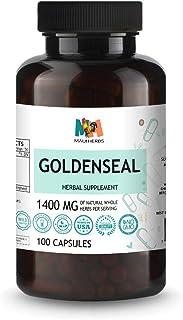 Sponsored Ad - Goldenseal 100 Vegan Capsules, 1400MG, Goldenseal Root (Hydrastis Canadensis L.)
