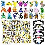 Lunriwis Figuras Pokemon Muñecos,Monster Mini Figure, Pokemon Juguetes,24 Mini Figuras Pokemon...