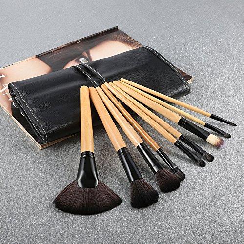 Hexingshan Pro 24 Pcs Makeup Brush Cosmetic Tool Kit Eyeshadow Powder Brush Set + Case
