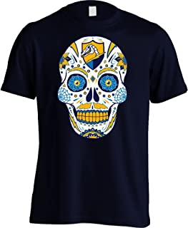America's Finest Apparel Los Angeles Football LAC Sugar Skull Shirt - Men's (Large, Navy)