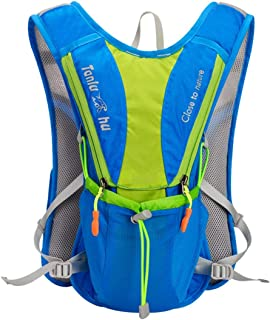 Running Backpack riding Vest Pack Outdoor Sports Marathon Hiking Fitness Bag Cycling Hydration Water Bag Bottle Backpack-Blue