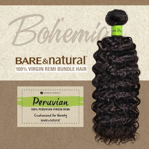 Sensationnel Unprocessed Peruvian Virgin Remy Human Hair Weave Bare & Natural Bohemian [12] (NATURAL) by Sensationnel