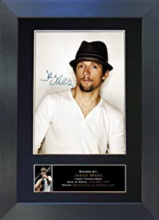 #300 Jason Mraz Signed Autograph Photo Reproduction Print A4 Rare Perfect Birthday (297 x 210mm) (Black Frame)