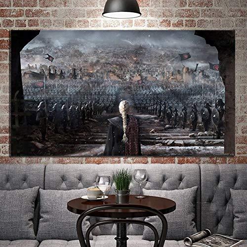 HNTHBZ Leinwand-Malerei 1 Stück Game of Thrones Daenerys Targaryen Mutter Der Drachen Plakat Grafik Digital-Ölgemälde Wand-Kunst-Dekor-No Frame Hanging Gemälde (Size (Inch) : 60cmx105cm)