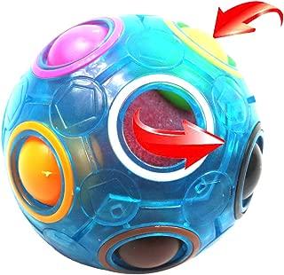 FCBB Fidget Ball,Spherical Magic Cube Rainbow Ball Cube Puzzle Brain Teasers Fidget Educational Toy (Blue)