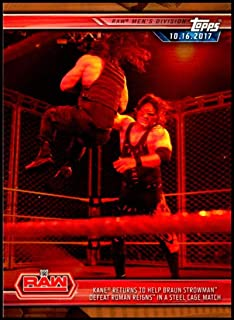 2019 Topps WWE Road to WrestleMania Bronze #5 Kane Returns Official Wrestling Trading Card