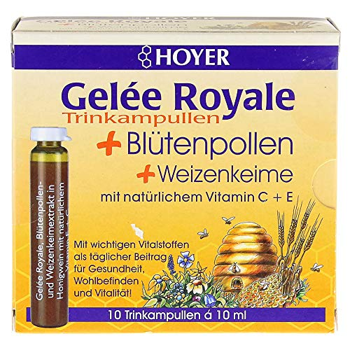 Hoyer Gelee Royale+Blütenpollen+Weizenk.Trinkamp.