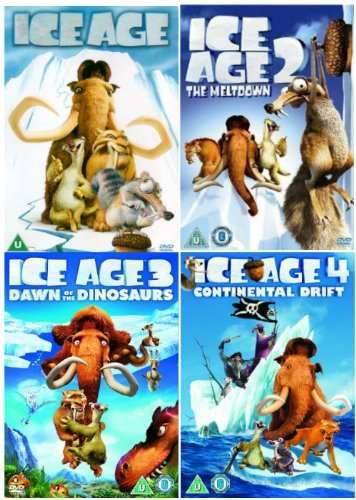 The Complete Ice Age 1 - 4 DVD Collection: Ice Age 1 / Ice Age 2: The Meltdown / Ice Age 3: Dawn of the Dinosaurs / Ice Age 4: Continental Drift (4 Discs)
