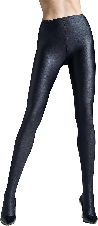 Womens Solid Black Tights   Gatta BLACK BRILLANT [Made in Europe]