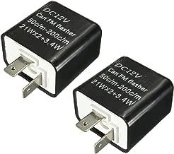 Gazechimp 2 Piezas Relé Intermitente Compatibilidad Universal Duradero Impermeable Prueba de Polvo AntiChoque Antivibración con Bombillas Luz LED