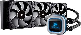 Corsair Hydro Series, H150i PRO RGB, 360mm Radiator, Triple 120mm ML Series PWM Fans, Advanced RGB Lighting and Fan Control with Software, Liquid CPU Cooler