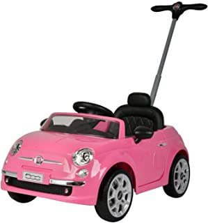 KidPlay Products Licensed Fiat 500 Push Car Pink Adjustable Handle Stroller
