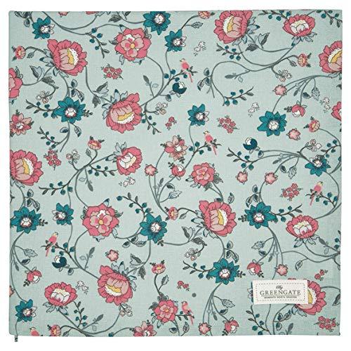 GreenGate - Tischdecke, Decke - Sienna - Baumwolle - Dusty Mint - 100x100 cm