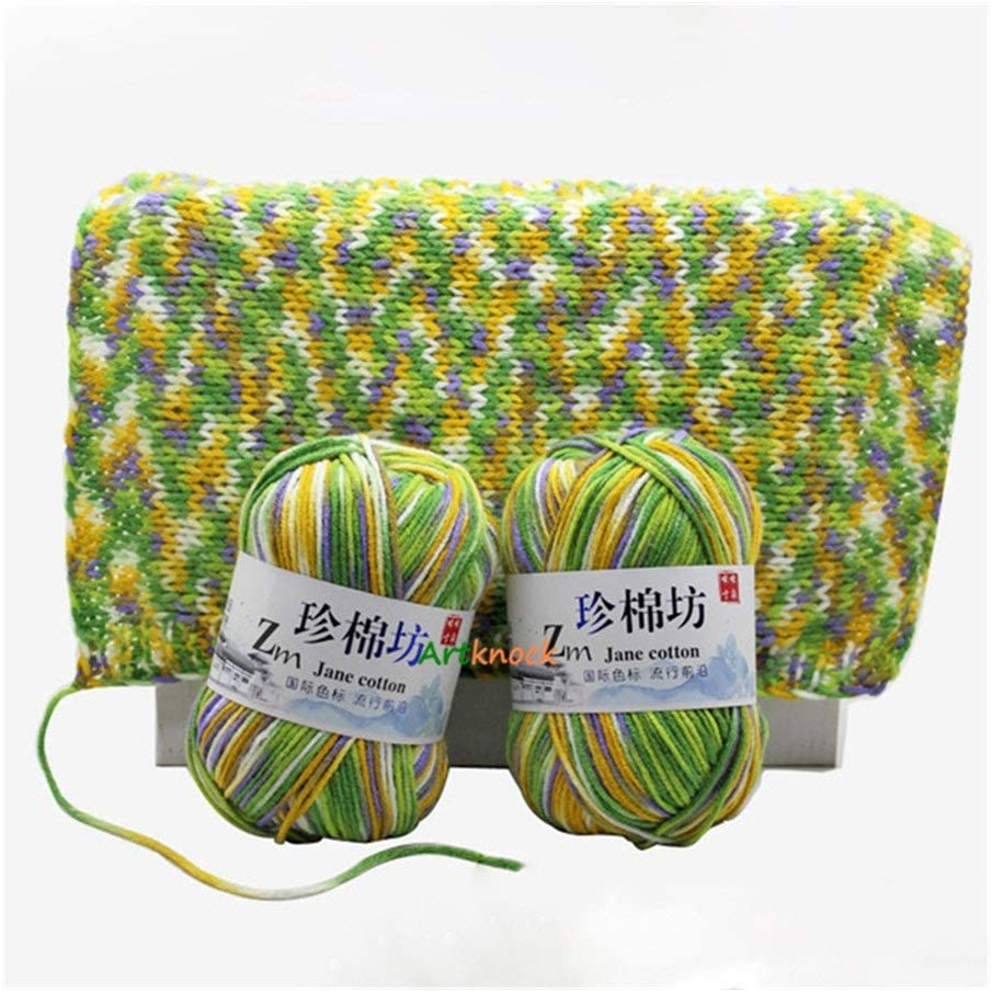 JXXXJS 10pcs Knitting Yarn Crochet Challenge the lowest price f Organic Melange Limited time for free shipping Combed
