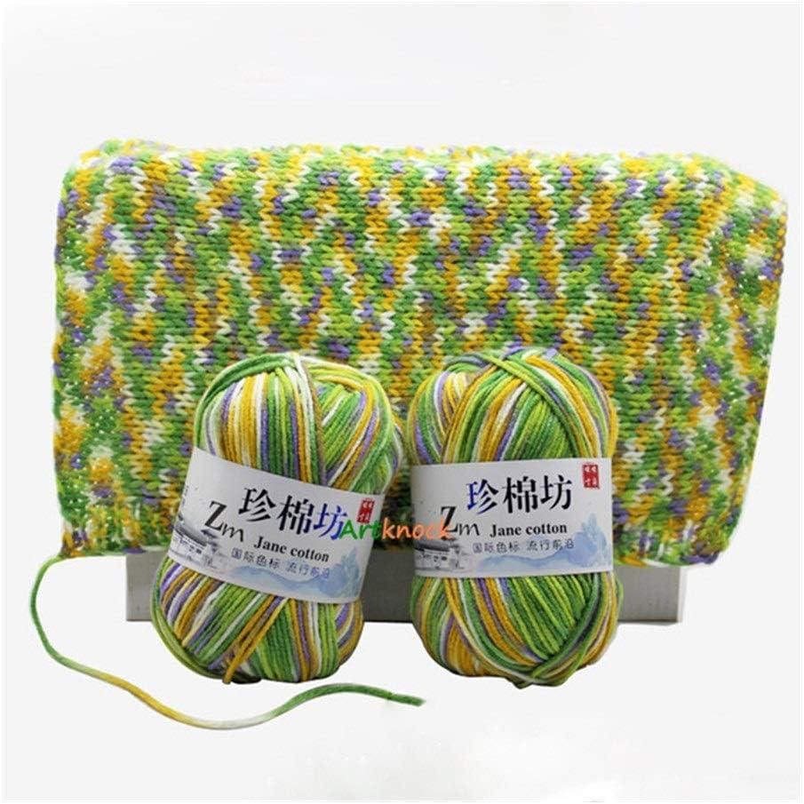 JXXXJS 10pcs Knitting Yarn Crochet f Melange Max Discount is also underway 40% OFF Organic Combed