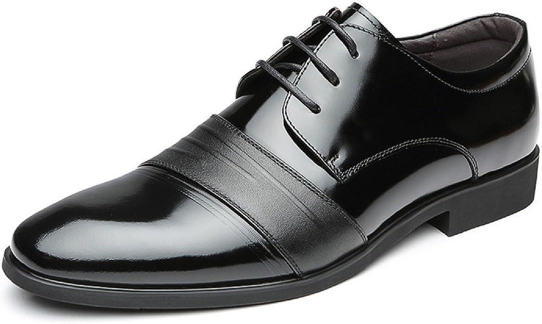 MUYII Oxfords Kleid Schuhe Für Mnner - Mnner Schnürschuh Plain Toe Business Formale Lackleder Schuhe Klassische Casual Mens Bequeme Schuhe