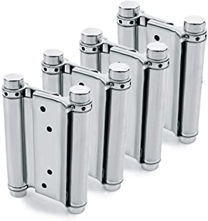 """Best 2 Pairs (4Pcs) of 3"""" Stainless Steel Cafe Saloon Door Swing Self Closing Double Action Spring Hinge Review"""