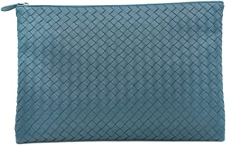 Luxury Fashion | Bottega Veneta Womens 522430V001N3008 Blue Clutch | Fall Winter 19