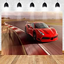 Meets 7x5ft Race Track Backdrop Runway Red Car Photography Background Themed Party Photo Booth YouTube Backdrop HUIMT405