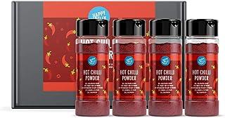 Marca Amazon - Happy Belly - Guindilla en polvo, 4x35g