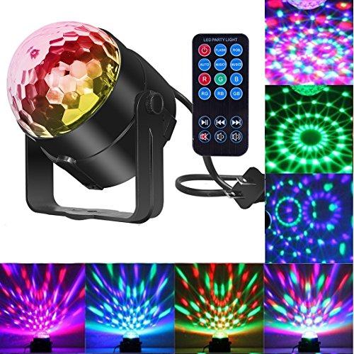 Comwinn Disco Lights Sound Activated Strobe Light Disco Ball Dj Lights Party Lights Xmas 7colors Disco light Disco Party Lights Show for Christmas Parties DJ Karaoke Wedding Outdoor with Remote