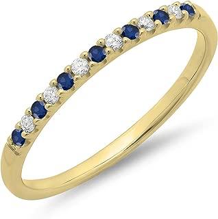 sapphire anniversary rings yellow gold
