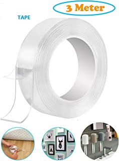 Unique Store Double Sided Adhesive Tape, Transparent Strong Adhesive Traceless Tape Removable Washable and Reusable Anti Slip Tape for Home Supplies | 3 Meter