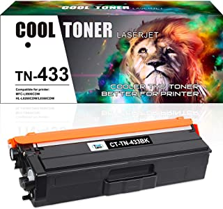 Cool Toner Compatible Toner Cartridge Replacement for Brother TN433 TN-433 TN433BK TN431 Brother MFC-L8900Cdw HL-L8360Cdw ...
