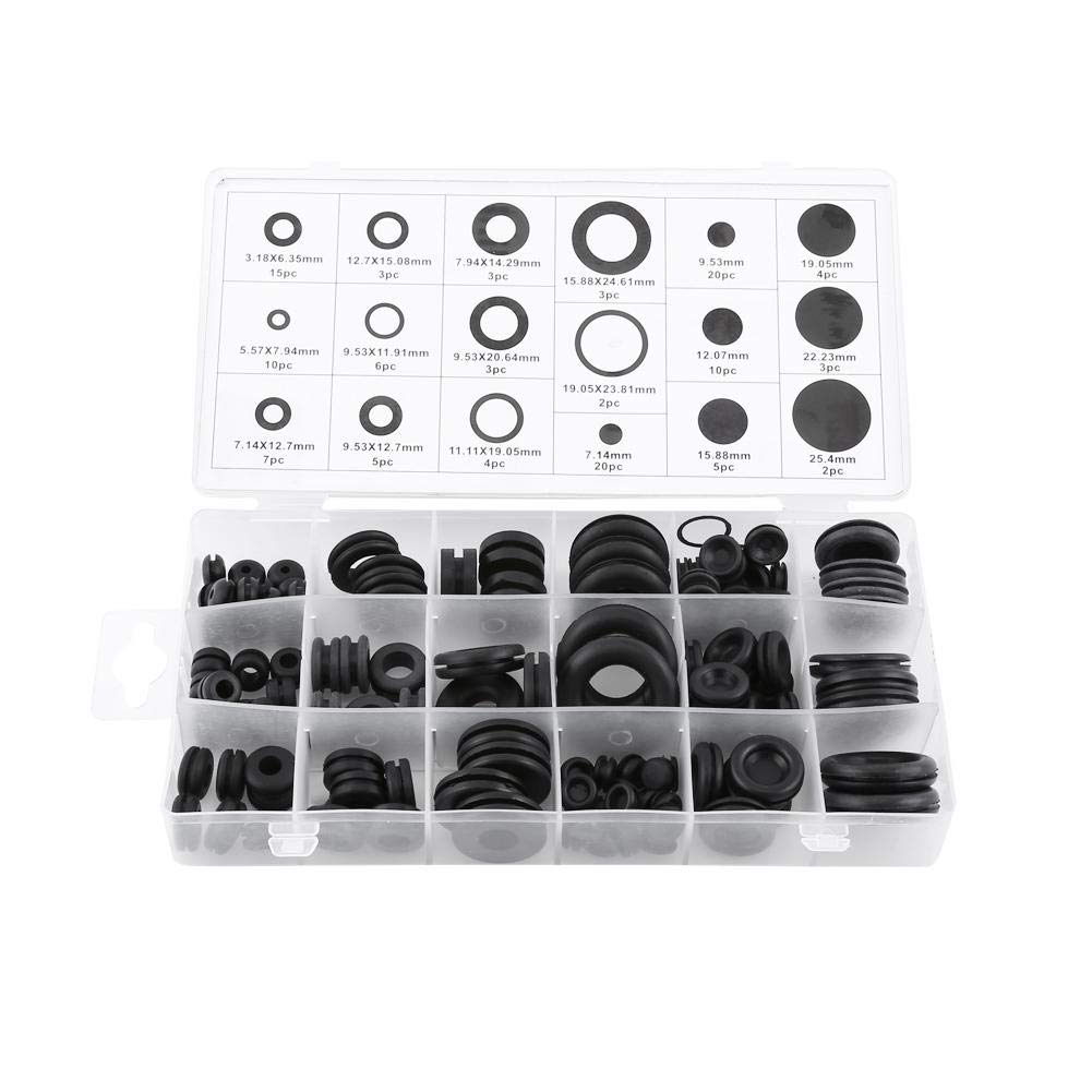 125Pcs security NEW before selling 18 Sizes Electrical Wire Grommet Rubber Assortment Set R