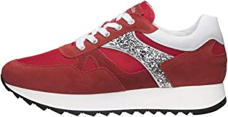 Nero Giardini E010520D Sneakers Femme en Cuir, Cuir Velours Et Toile